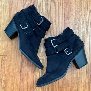 Express Black Booties, size 6.